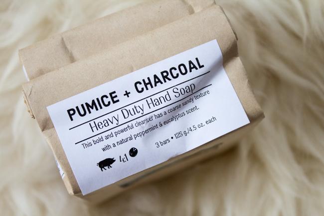 Pumice + charcoal soap