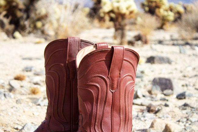 Tecovas Jessie Ostrich cowboy boots in Bourbon