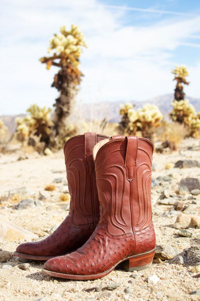 Tecovas Jessie Ostrich cowboy boots