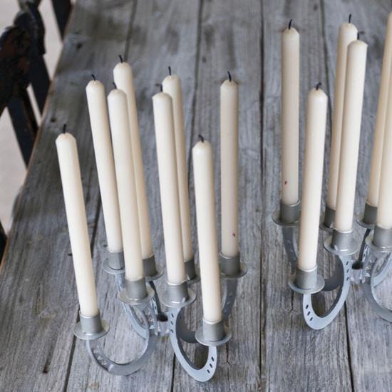 horseshoe taper candle holder