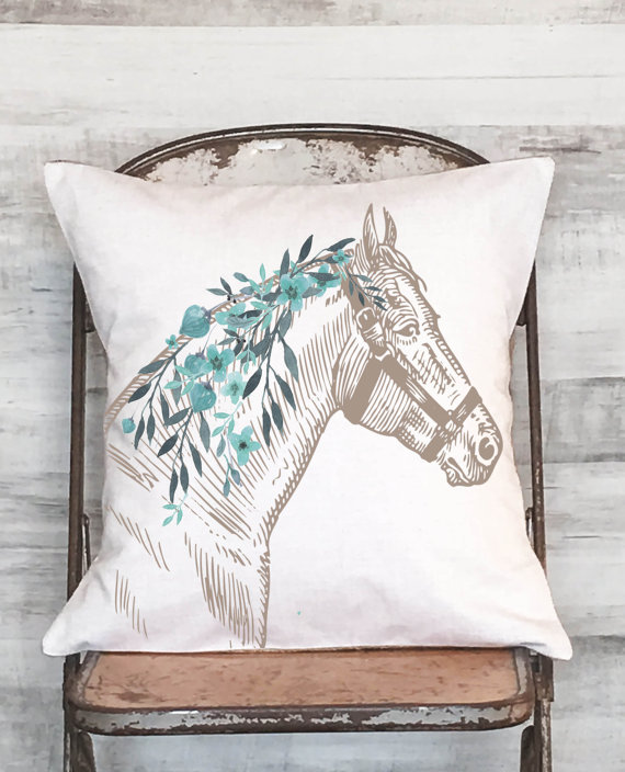40 Horse Pillows With Farmhouse Charm Horses Heels Fascinating Horse Pillows Decor