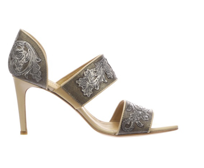 Rosealie tooled leather heels by Lucchese