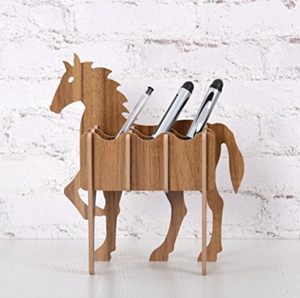 Horse Desk Supply Holder